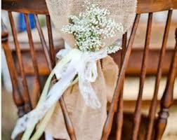 Vintage Wedding Chair Sashes Burlap Chair Sash Rustic Wedding Rustic Wedding Chair
