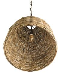 Currey Lighting Fixtures Alluring Basket Pendant Light Currey And Company Home