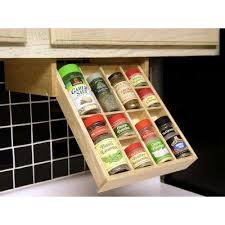 Spice Rack Inserts For Drawers Spice Racks U0026 Jars Kitchen Storage U0026 Organization The Home Depot