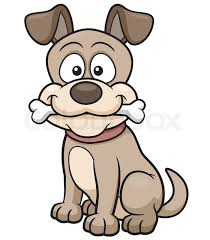 cute freehand cartoon vector character funny dog sketch in
