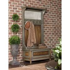 coat rack bench with mirror wiz me image with appealing hallway