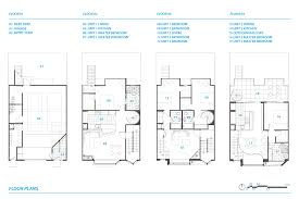 High End Home Plans by San Francisco Townhomes Floor Plans