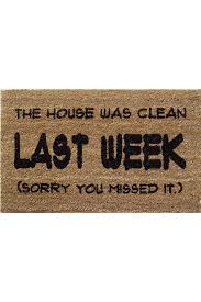 Buy Artsy Doormats Wipe Your Mats Matter Last Week Pvc Back Coir Doormat In Brown Cool