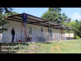 Mobile Home Carport Awnings Steel Patio Covers For Doublewide Mobile Homes Youtube