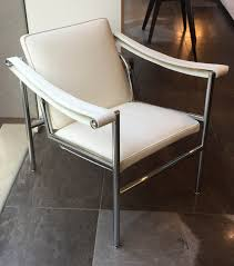 Leather Armchair Cassina Lc1 Villa Church White Leather Armchair Deplain Com