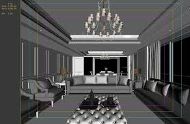 family living room restaurant design balcony 3d cgtrader