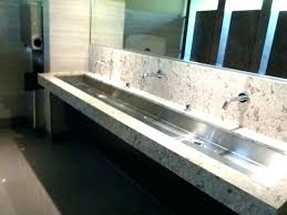 trough sink with 2 faucets long bathroom sink with two faucets pir wll fucets large bathroom