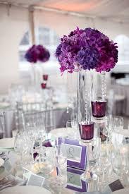 purple centerpieces wedding flowers centerpieces