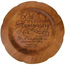 60th wedding anniversary plate personalized 60th wedding anniversary plate gift for