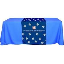 trade show table runner custom dye sublimation printed table runners
