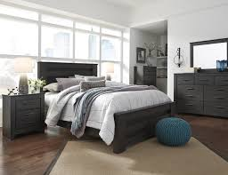 nightstand appealing epic wood and metal nightstand in modern brinxton 5 pc king bedroom set king poster bed dresser mirror