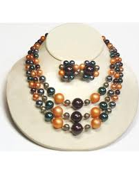 japan earrings savings on japan 3 strand bead bib necklace earrings in