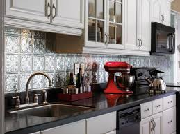 Interior  Beautiful Tin Ceiling Tiles For Backsplash About Home - Tin ceiling backsplash