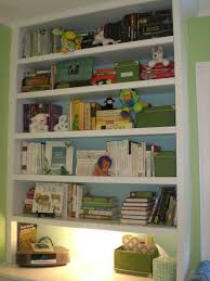 decluttering and styling the bookshelves