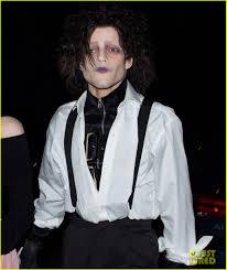 Edward Scissorhands Costume Rami Malek Wins Halloween With Edward Scissorhands Costume Photo
