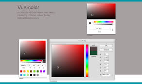 use color pickers for sketch photoshop chrome with vue js 2 0