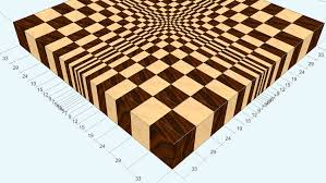 3d end grain cutting board 1 to make with the use of 13 3d end grain cutting board 1 to make with the use of 13
