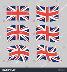 great britain flag set national flags stock illustration 474860560