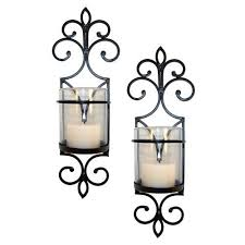 Yankee Candle Wall Sconce San Miguel Set Of 2 Pentaro Wall Sconces Home Decor Bronze Candle