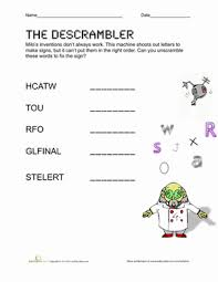 unscramble spelling words worksheet education com