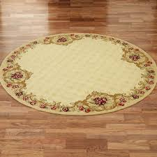 Yellow Circle Rug Wine And Roses Hooked Round Area Rugs