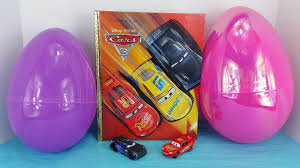 cars 3 movie big golden book u0026 2 giant egg surprises with