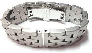 solid metal bracelet images Heavy soild link stainless steel watch bracelet satin finish 20 jpg
