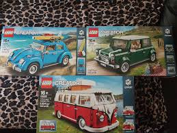 camper van lego brand new lego creator cars bundle vw camper van mini cooper and