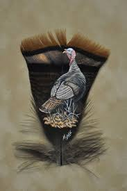 turkey feather painting feather feather feathers feather painting