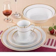 white gold dinnerware ceramic gold line dinnerware high quality