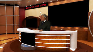 tv studio desk tv news anchor in studio side angle stock video footage videoblocks