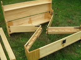 Wooden Folding Bed An Entire Bed Frame Folded To Store Inside Of Its Own