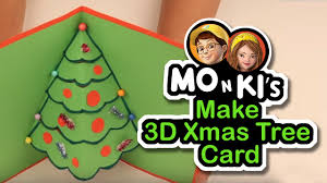 mo n ki make 3d tree card worldoo