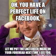 Me Next Time Meme - oh you have a perfect life on facebook let me put the like check