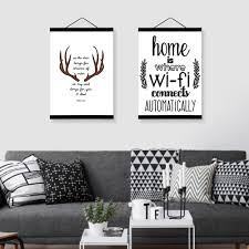Nordic Home Decor Aliexpress Com Buy Abstract Deer Head Wifi Quotes Wooden Framed