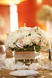 Glass Vases For Weddings Diy Glass Vases With Ribbon And Rhinestones For Centerpieces Low