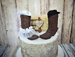 western wedding cake topper boot cowboy hat western bride groom
