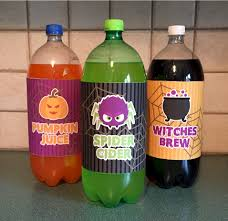 halloween soda bottle labels fun family crafts