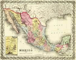Chihuahua Mexico Map Old Mexico Map Colton 1856