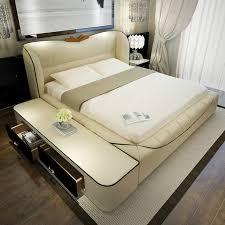 bedroom furniture sets modern leather king size storage bed frame