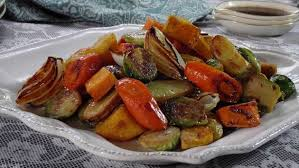 Glazed Root Vegetables Recipe - roasted vegetables with balsamic glaze recipe trisha yearwood