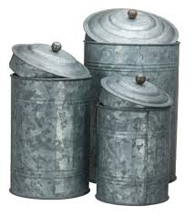 amazon com antique style galvanized tin canister set home u0026 kitchen