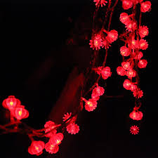 traditional red lantern led string light 4m with 40pcs leds