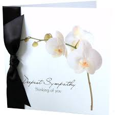 funeral card orchid style sympathy cards handmade cards for funerals and