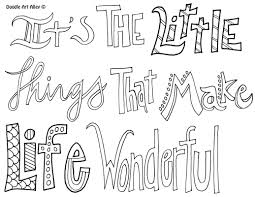 attitude quote coloring pages doodle art alley