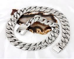 titanium curb chain necklace images 72cm length super heavy thick 24mm punk mens gold silver cuban jpg
