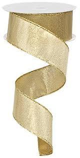 metallic gold ribbon 1 5 solid metallic gold ribbon wired 10yds
