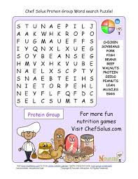 printable 13 word search puzzle protein group