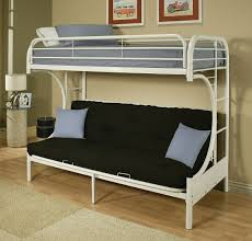 White Futon Bunk Bed Eclipse White Futon Bunk Bed Andrew S Furniture And Mattress