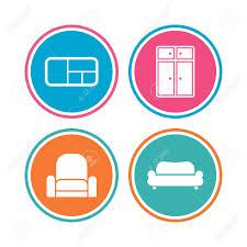 enseigne canapé icônes de meubles canapé placard et enseignes d étagère de livre